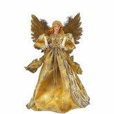 Kurt Adler 10 Light Gold Angel Tree Topper Figurine