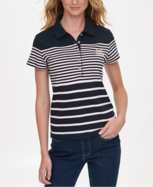 Tommy Hilfiger Striped Polo Shirt, Created for Macy's