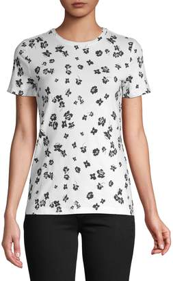 Lord & Taylor Petite Cotton Stretch Floral Tee