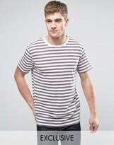 Brooklyn Supply Co. Brooklyn Supply Co Plum Breton Stripe T-Shirt
