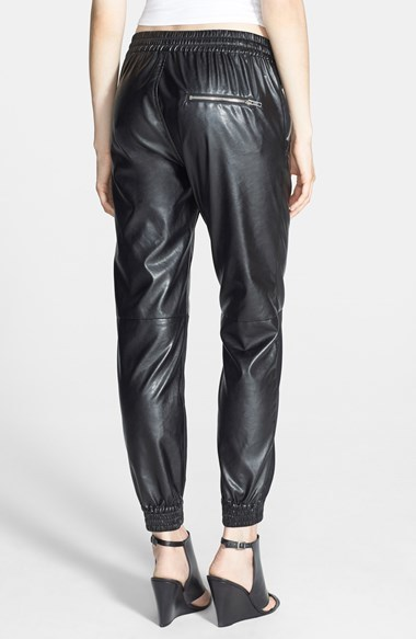 Blank NYC BLANKNYC 'Face Lift' Faux Leather Track Pants