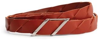 Bottega Veneta Leather Woven Belt