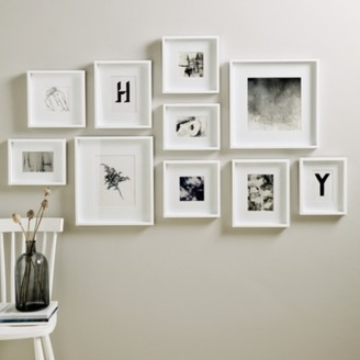 The White Company Picture Gallery Large Wall Photo Frame Set, White, One Size