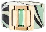 Emilio Pucci Resin Cuff Bracelet