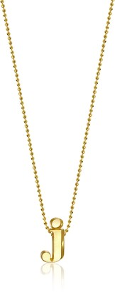 "Alex Woo Little Letters"" 14k Yellow Gold ""J"" Pendant Necklace"