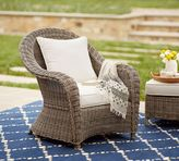 Pottery Barn Torrey All-Weather Wicker Roll-Arm Occasional Chair - Natural