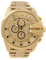 Diesel Mega Chief Gold Stainless Steel IP Chronograph Bracelet Watch