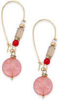 INC International Concepts Gold-Tone Stone & Bead Drop Earrings, Created for Macy's