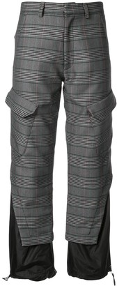 Delada Panelled Checked Trousers