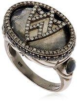 Jade Jagger Chevron Shield Cocktail Ring