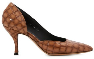 Dries Van Noten Crocodile-effect leather pumps