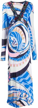 Emilio Pucci Wally print evening dress