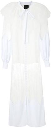 Andrea Bogosian Rolly lace-panel maxi dress