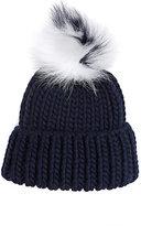 Eugenia Kim Women's Pom-Pom Knit Hat-Navy