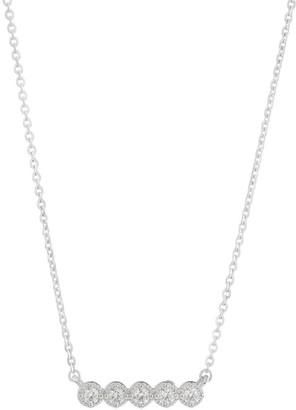 Hearts On Fire Liliana 18K White Gold & Diamond Milgrain Bar Necklace