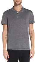 John Varvatos Trim Fit Burnout Polo