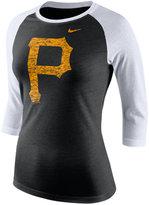 Nike Women's Pittsburgh Pirates Tri Logo Raglan T-Shirt