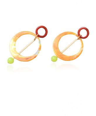 Rachel Comey Joey Marbled Acrylic Earrings