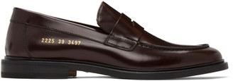 Common Projects Burgundy Leather Loafers