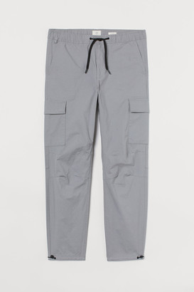 H&M Regular Fit Cargo Pants - Gray