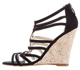 Alexandre Birman Suede Wedge Sandals