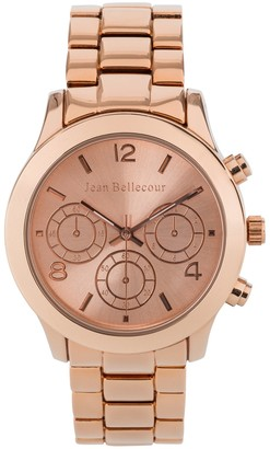 Jean Bellecour Womens Analogue Classic Quartz Watch with Stainless Steel Strap REDS9