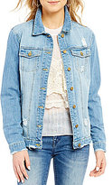 C & V Chelsea & Violet Destructed Denim Trucker Jacket