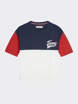 Tommy Hilfiger Colour-Blocked 1985 Logo T-Shirt