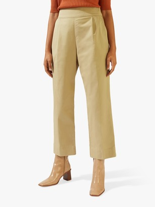 Jigsaw Front Pleat Chino Trousers, Camel