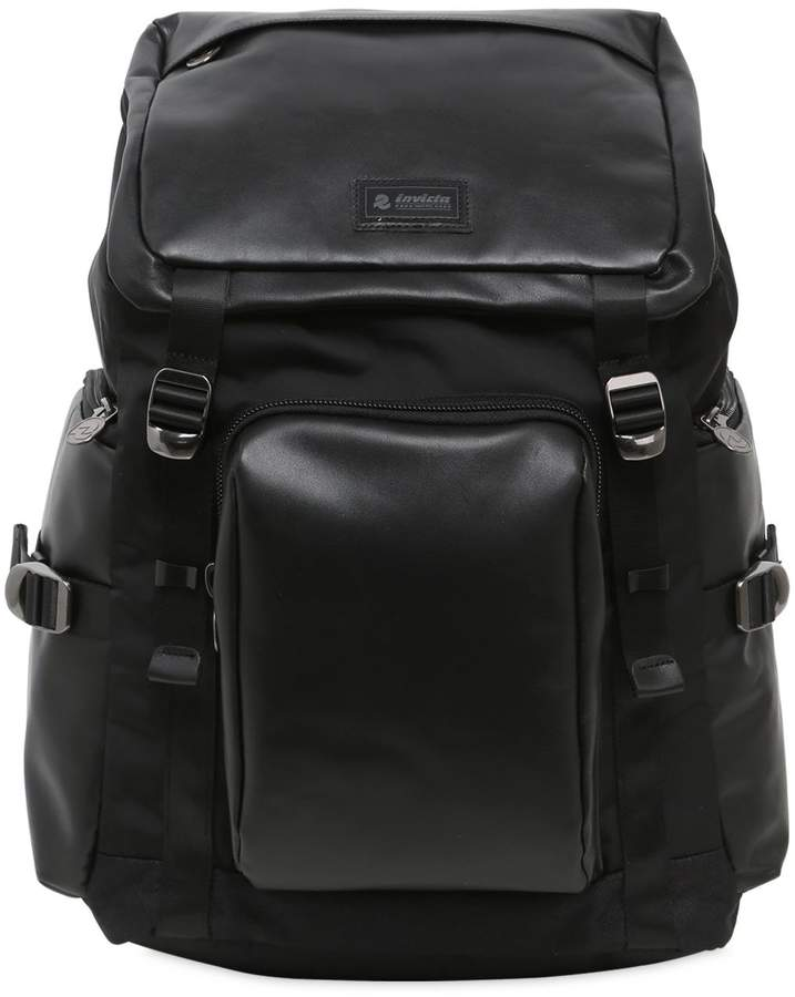 Invicta 30l Leather & Nylon Backpack