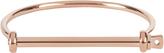 Miansai Screw Cuff Rose Gold Tone Thin Bracelet