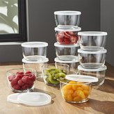 Crate & Barrel Lidded Bowl with Clear Lid Set of 12