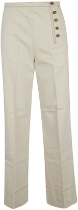 Tory Burch Twill Button Front Trousers