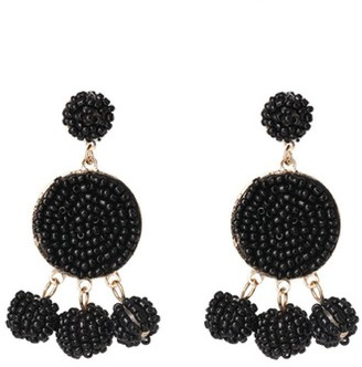 Goodnight Macaroon 'Ikie' Beaded Statement Earrings (9 Colors)