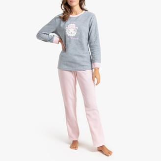 La Redoute Collections Microfleece Pyjamas with Sheep Print