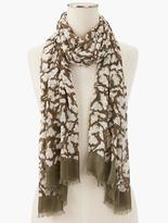 Talbots Ghosted Floral Scarf