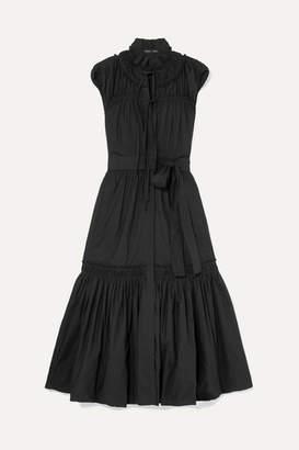 Proenza Schouler Ruffled Tiered Cotton-poplin Dress - Black