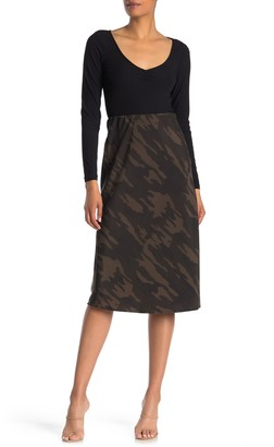 Sanctuary Bias Pull-On Midi Skirt (Regular & Petite)
