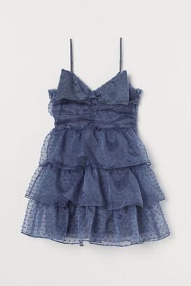 H&M Bow-detail Flounced Dress