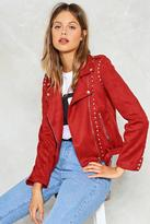 Nasty Gal nastygal Burnout Studded Moto Jacket