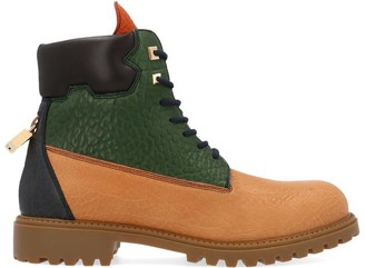 Buscemi Colour Block Combat Boots