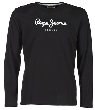 Pepe Jeans EGGO LONG men's Long Sleeve T-shirt in Black