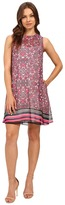 Donna Morgan A Line Printed Chiffon A-Line Dress