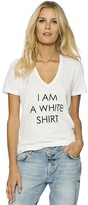Peace Love World I am a White Shirt Love2Love Light Kim V-Neck Tee