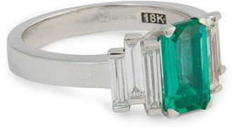 Suzanne Kalan White Gold, Diamond And Emerald Fireworks Ring