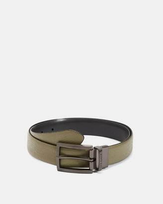 Ted Baker Croc Print Leather Belt