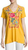 JWLA by Johnny Was Lucia Short-Sleeve V-Neck Tee, Plus Size