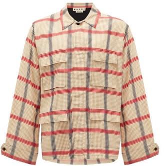 Marni Flap-pocket Plaid Shirt - Beige Multi