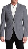 Kroon Bono Grey Check Two Button Notch Lapel Coat