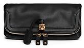 Alexander McQueen 'Padlock' leather clutch